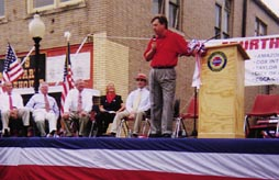 Speaking at 4th of July